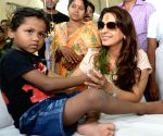 Juhi Chawla meets with thalassemia affected children