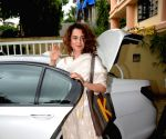 Kangana Ranaut seen at Mumbai's Juhu