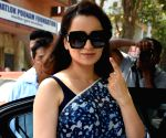 2019 Lok Sabha Elections - Phase 4 - Kangana Ranaut casts vote