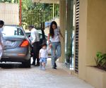 Kareena Kapoor Khan, Taimur Ali Khan seen at Karisma Kapoor's house