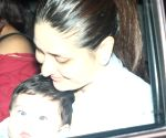 Kareena with son Taimur at Tusshar Kapoor son Laksshya's birthday party
