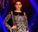 Karan Johar, Karisma Kapoor and Amrita Arora during the Lakme Fashion Week Winter/Festive 2017