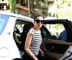 Karisma Kapoor seen at a Bandra clinic