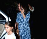 Lara Dutta seen with daughter at Bandra