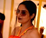 Actress Madhoo seen at a store