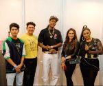 Groovy Madhuri Dixit poses with rapper Wiz Khalifa