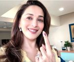 2019 Lok Sabha Elections - Phase 4 - Madhuri Dixit casts vote
