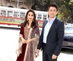Madhuri Dixit, Sriram Madhav Nene arrives at Jehangir Art Gallery