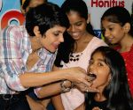 Mandira Bedi during the season 3 of biggest RJ hunt for kids