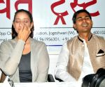 Manisha Koirala, Shambhu Sharan Jha - press conference