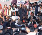 Nagma campaigns for Congress candidate Arvinder Singh Lovely