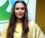 "Neha Dhupia during ""Banega Swachh India"" campaign"