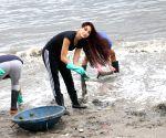 Beach Clean Up programme - Nora Fatehi