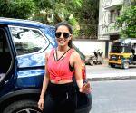 Nushrat Bharucha seen at a gym