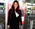 Payal Ghosh seen at Mumbai Airport