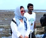 Pooja Bhatt during a Beach Clean Up programme