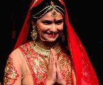 Prachi Desai during a fashion show