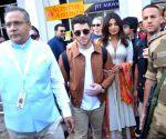 Priyanka Chopra and Nick Jones arrives