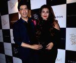 Launch of Manish Malhotra X Chandon Champagne bottles - Raveena Tandon and Manish Malhotra