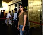 Rhea Chakraborty spotted at airport