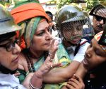 Police charge batons on BJP workers - Roopa Ganguly