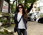Sangeeta Bijlani seen at a salon