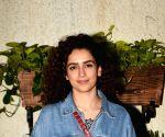 Sanya Malhotra, Ritesh Batra seen at a studio