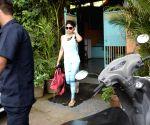 Shamita Shetty seen at Versova
