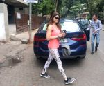 Shamita Shetty seen outside a gym