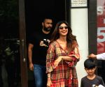 Shilpa Shetty Kundra, Raj Kundra and Viaan Raj Kundra seen at Mumbai's Bandra