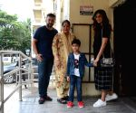 Shilpa Shetty seen with her family at PVR Juhu