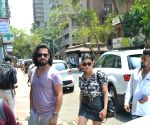 Shruti Haasan and Michael Corsale seen at Mumbai's Bandra