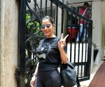 Sophie Choudry seen at Mumbai's Bandra