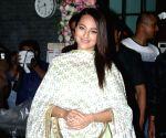 Sonakshi Sinha seen at Arpita Khan's house