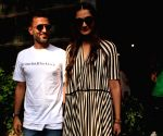 Sonam Kapoor and Anand Ahuja seen at Pali Village Cafe