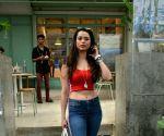 Soundarya Sharma seen at Mumbai's Bandra