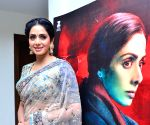 Hyderabad: Sridevi attended Mom film Promotional Event at Hyderabad