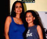 Suchitra Pilla and Annika Kjeldsen seen at a cinema theatre