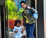 Sunny Leone, daughter seen at Juhu
