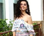 "Taapsee Pannu during ""Saand Ki Aankh"" promotions"