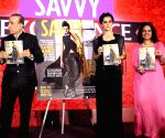 "Mumbai: Taapsee Pannu,Amruta Fadnavis and Daisy Shah during the ""Savvy Excellence Awards"