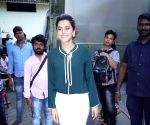 Taapsee Pannu seen at Filmistan Studio