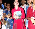 Tamannaah offer prayer to Lalbaugcha Raja