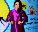 Tisca Chopra at 92.7 BIG FM Big Spell Bee contest