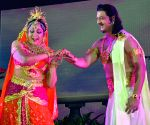 Hema Malini performs during a programme
