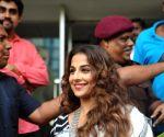 Vidya Balan inaugurates exhibition Chaplin Lines