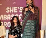 Sonam Kapoor and Twinkle Khanna during a program