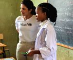 Addis Ababa: Priyanka spends time with refugee children in Ethiopia