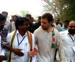 Rahul Gandhi during his visit to Adilabad
