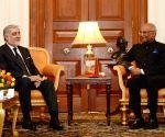 Afghan CEO Abdullah meets President Kovind